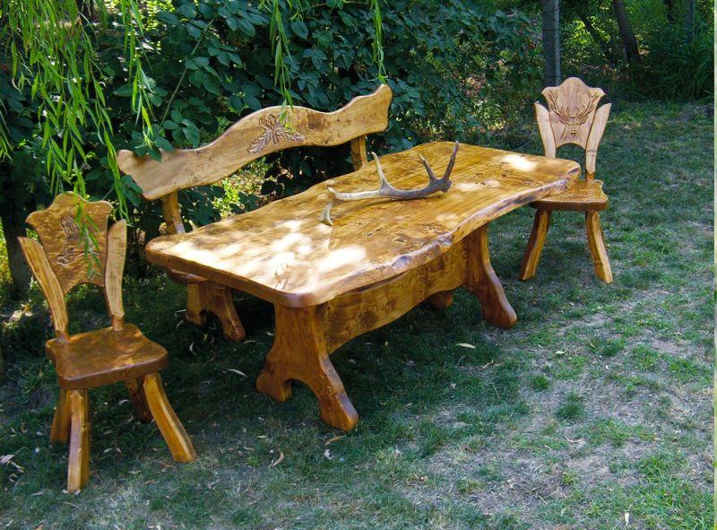 JAGD und WEINKELLER Möbel aus Maserholz 200cm