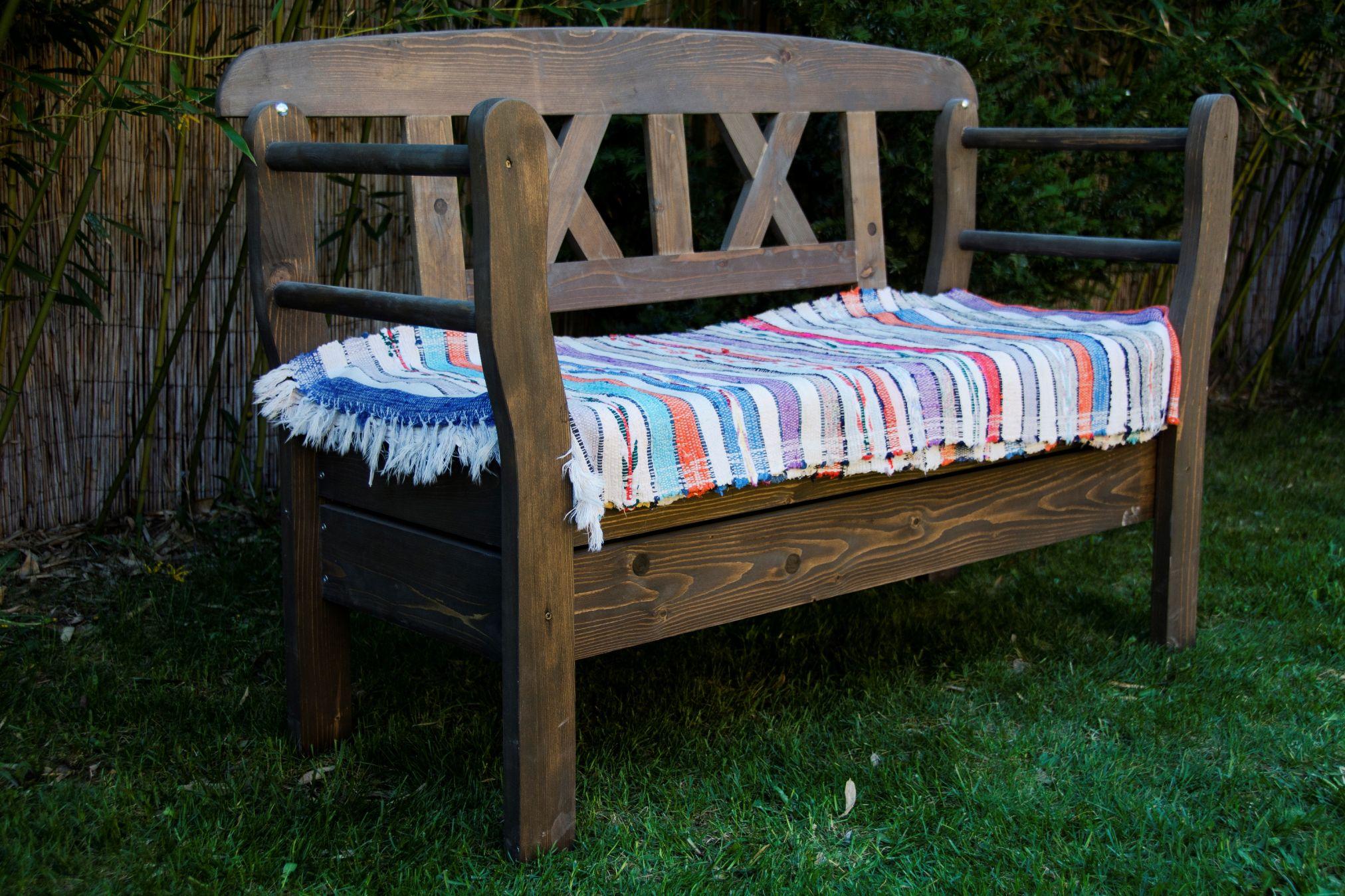 rustikale aufklappbare holzbank wohnen garten online webseite wohnen garten online. Black Bedroom Furniture Sets. Home Design Ideas