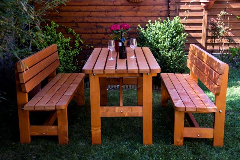 RUSTIK Gartengarnitur für 6 Personen