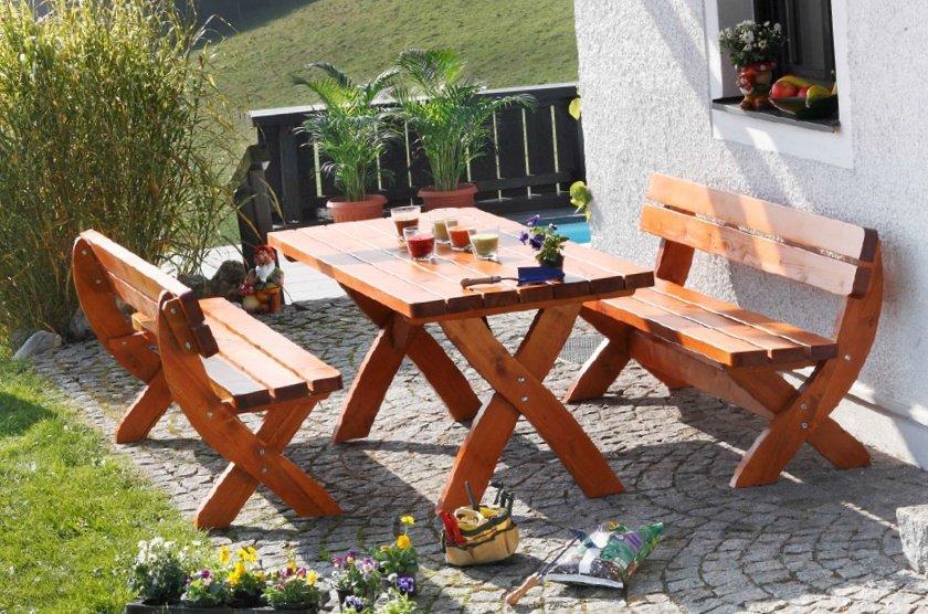 WIEN Gartenmöbel Garnitur  190 cm ohne Sessel